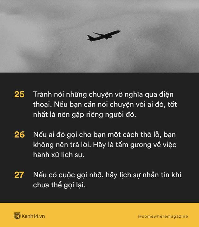 Không cần biết nhiều chỉ cần biết điều: Nằm lòng 30 quy tắc để không bao giờ biến mình thành kẻ bất lịch sự - Ảnh 9.