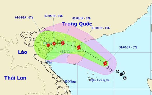Bão số 3 đang tiến thẳng vào các tỉnh từ Quảng Ninh - Nam Định, dự báo gây mưa rất to - Ảnh 1.