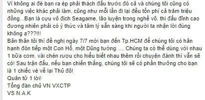 Bị cựu vô địch SEA Games thách đấu, Tổng đàn chủ Vịnh Xuân Nam Anh ra lời đáp trả khó ngờ - Ảnh 4.