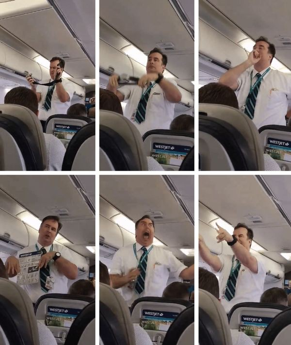 Tiếp viên hàng không hướng dẫn an toàn như diễn hài khiến hành khách cười vỡ bụng - Ảnh 2.