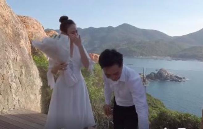 Clip: Đàm Thu Trang xúc động bật khóc khi được Cường Đô la cầu hôn trên bờ biển - Ảnh 3.