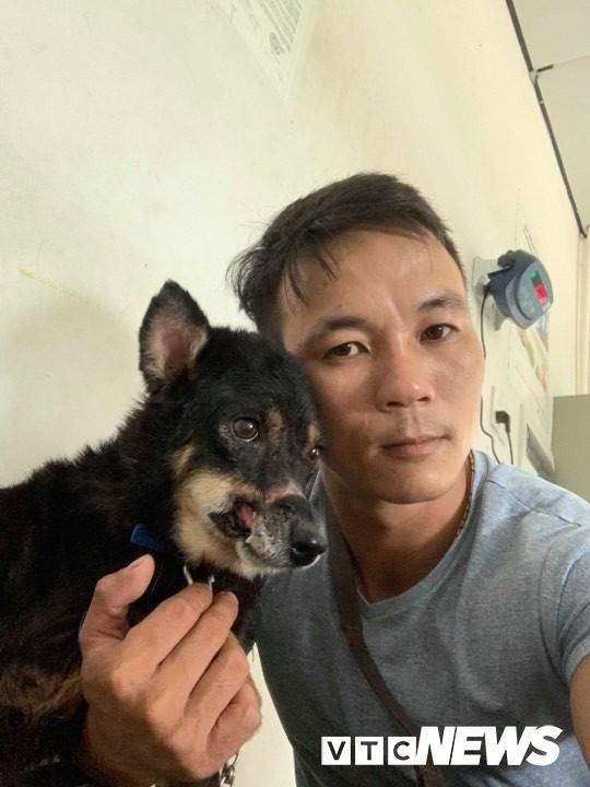 Hành trình sang Mỹ của chú chó hoang ở Huế bị hoại tử mõm - Ảnh 1.
