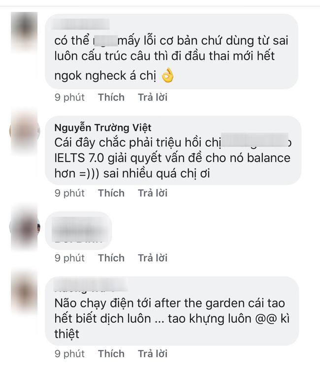 Sống ở Mỹ hơn 1 năm, Phạm Hương vẫn bị dân mạng phát hiện dùng Google dịch, viết 2 câu tiếng Anh mà sai chục lỗi - Ảnh 5.