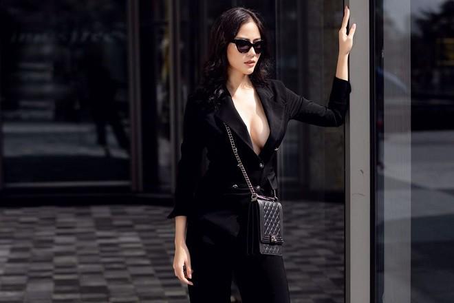Á hậu Hoàng Hạnh sexy dạo phố - Ảnh 8.