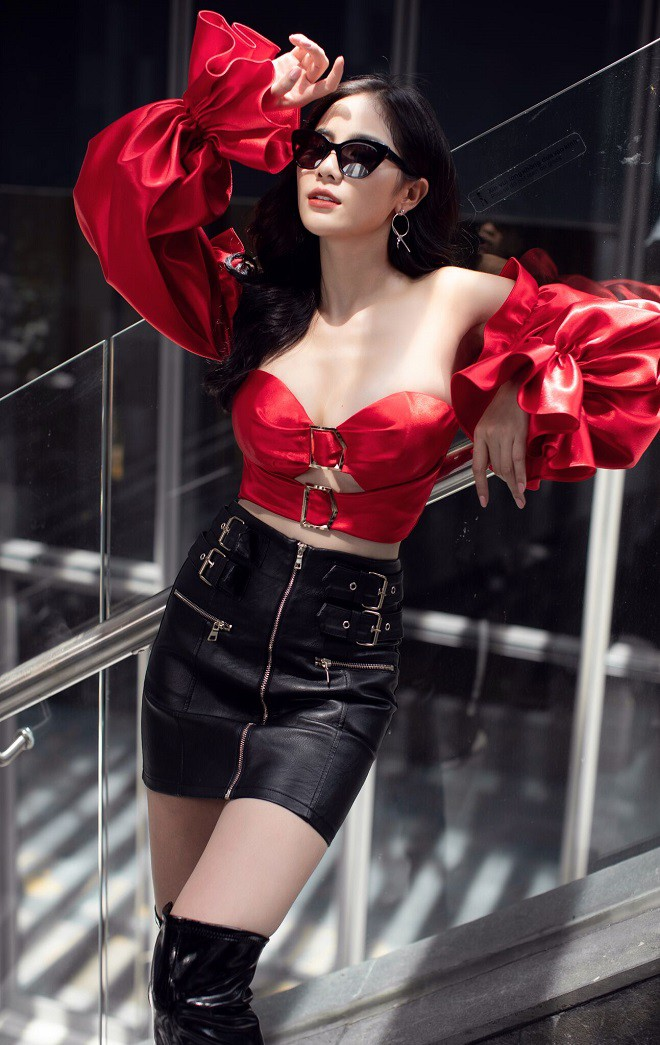 Á hậu Hoàng Hạnh sexy dạo phố - Ảnh 4.