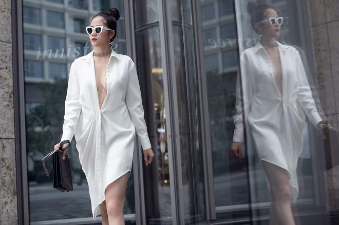 Á hậu Hoàng Hạnh sexy dạo phố - Ảnh 13.
