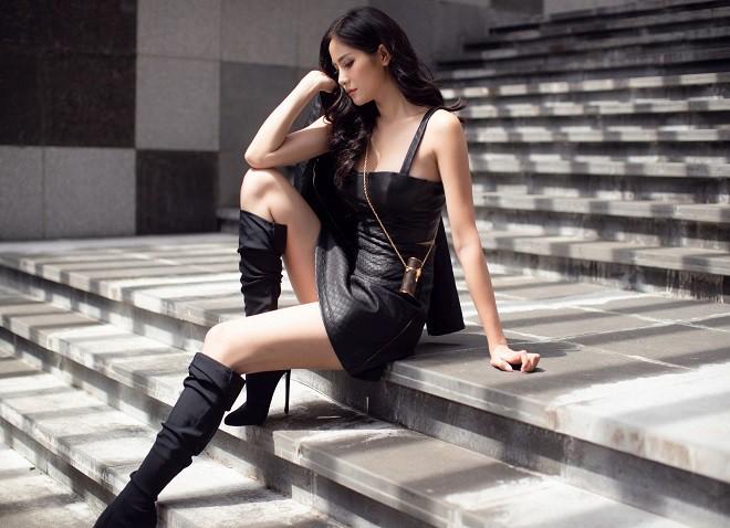 Á hậu Hoàng Hạnh sexy dạo phố - Ảnh 9.