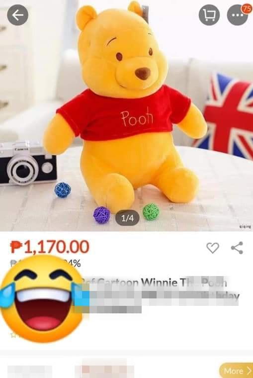 Đặt mua trên mạng đến khi nhận hàng, khách giật mình trước biểu cảm của con gấu bông - ảnh 1