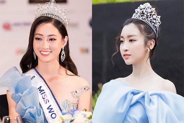 Hoa hậu Lương Thùy Linh: Tôi chưa được tiếp xúc với chị Đỗ Mỹ Linh nên không có chuyện chị xúi tôi đi thi - Ảnh 1.