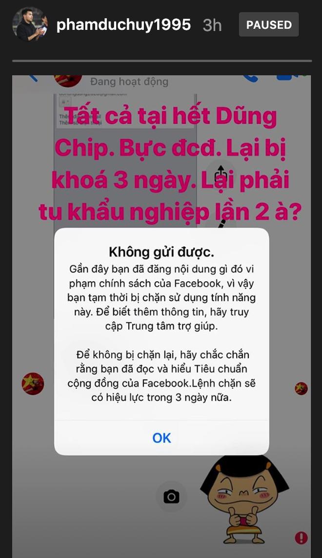Tu khẩu nghiệp bất thành, hoàng tử Đức Huy bị facebook khoá tương tác chỉ sau 47 ngày - Ảnh 2.