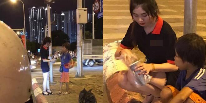 Dừng đèn đỏ tặng trà sữa cho cậu bé bán hàng rong, cô gái trẻ vừa được khen lại vừa bị chỉ trích  - Ảnh 2.