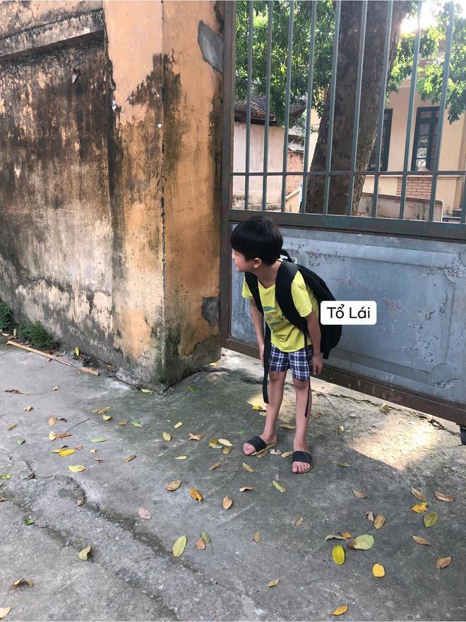 Cậu nhóc ngồi một mình chưng hửng ở cổng trường thấy mà thương nhưng khi biết nguyên nhân thật sự ai nấy cũng phì cười - Ảnh 3.