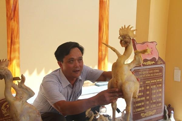 Độc đáo phi đội gà bay trên mâm cúng rằm tháng 7 ở Hà Tĩnh - Ảnh 7.