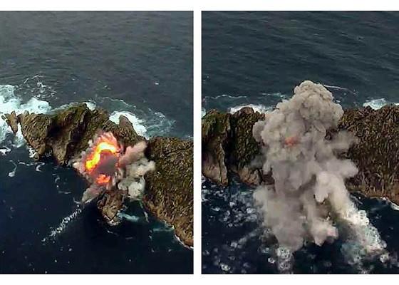 Tên lửa Triều Tiên rời bệ phóng, nhắm trúng mục tiêu trên biển - Ảnh 6.