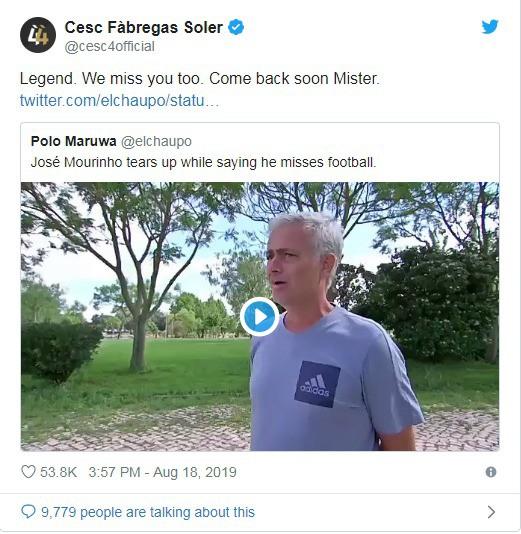Mourinho suýt khóc khi thừa nhận rất nhớ bóng đá - Ảnh 1.
