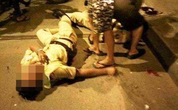 Nam thanh niên dùng đá đánh CSGT trọng thương sau khi vi phạm luật giao thông