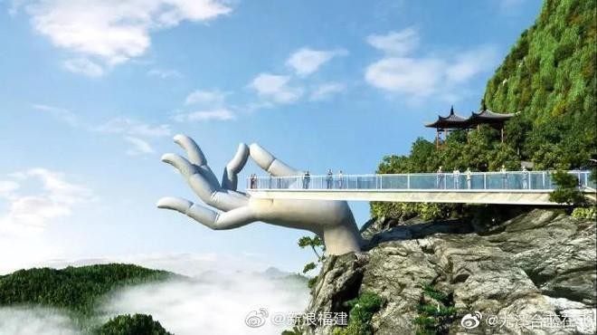 """Cầu Vàng """"kì quan"""" Đà Nẵng xuất hiện bản nhái ở Trung Quốc, nhưng """"rởm"""" hơn tỉ lần! - Ảnh 5."""