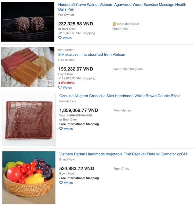 Hàng loạt sản phẩm truyền thống của Việt Nam được bán với giá cực cao trên Amazon, eBay - Ảnh 5.