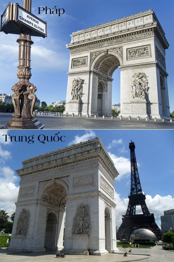 17 công trình nổi tiếng thế giới bị Trung Quốc đạo nhái không thương tiếc: Tháp Eiffel, Nhà Trắng cũng không thoát - Ảnh 4.