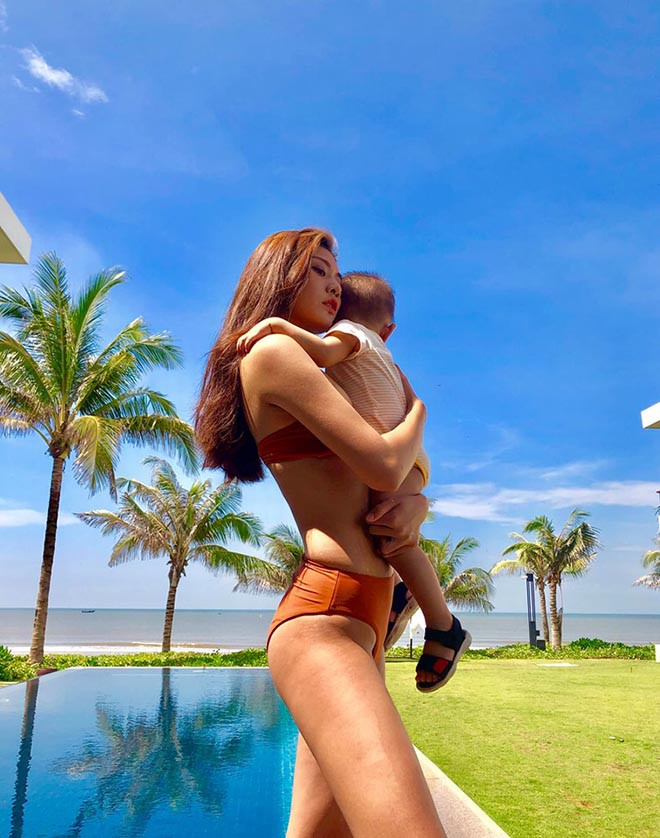 Người mẫu Việt từng bị chê bai cân nặng gây bất ngờ sau khi lấy chồng, sinh con - Ảnh 4.