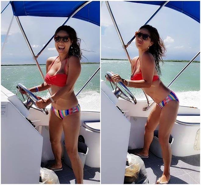 Nữ ca sĩ Việt từng có 3 đời chồng tung loạt ảnh bikini gợi cảm ở tuổi 46 - Ảnh 7.
