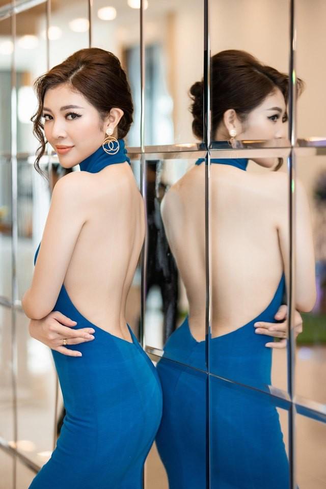 Hoa hậu Thiên Hương khoe da trắng, lưng trần quyến rũ - Ảnh 4.