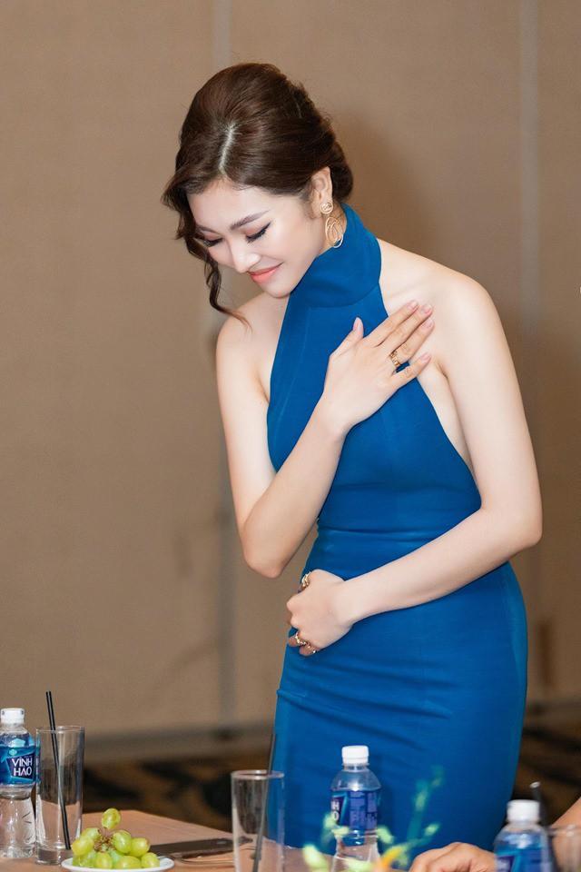 Hoa hậu Thiên Hương khoe da trắng, lưng trần quyến rũ - Ảnh 6.
