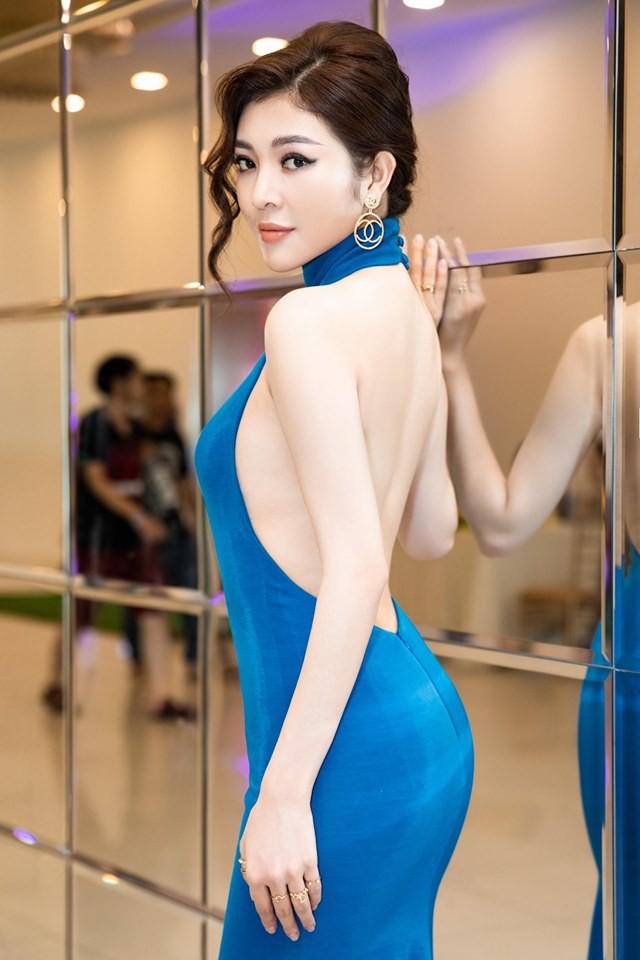 Hoa hậu Thiên Hương khoe da trắng, lưng trần quyến rũ - Ảnh 3.