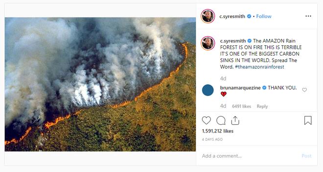Hàng loạt sao cầu nguyện cho rừng Amazon, nhưng lại share nhầm ảnh đám cháy ở chỗ khác, kể cả Ronaldo, Djokovic hay Madonna - Ảnh 3.