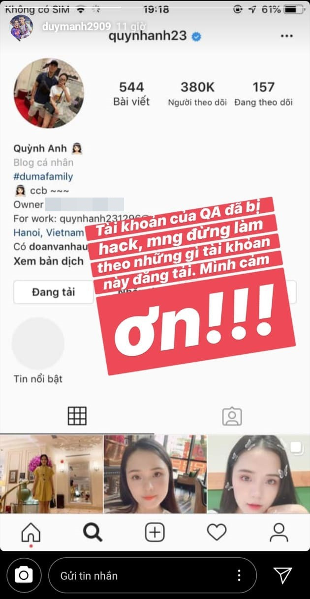Bạn gái Đoàn Văn Hậu khóc ròng vì bị mất tài khoản Facebook - 8