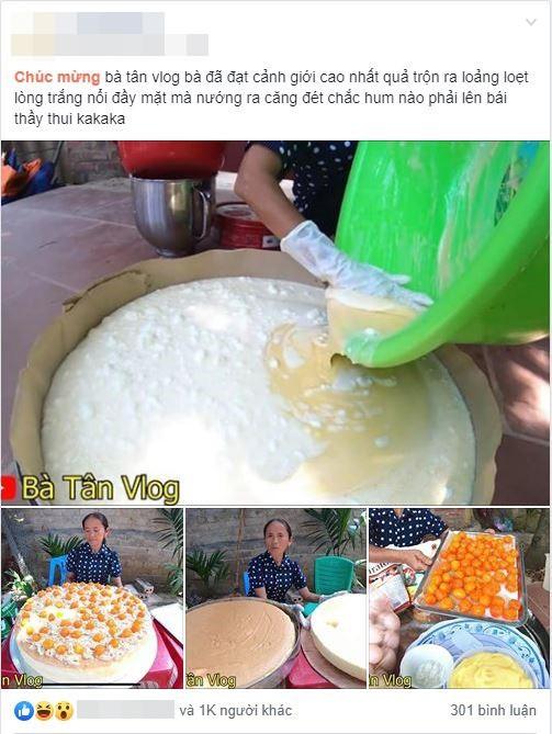 Giỏi như bà Tân Vlog: Bột trộn lõng bõng mà vẫn nướng được cốt bánh căng đét, dân làm bánh đành ngả mũ chịu thua - Ảnh 1.