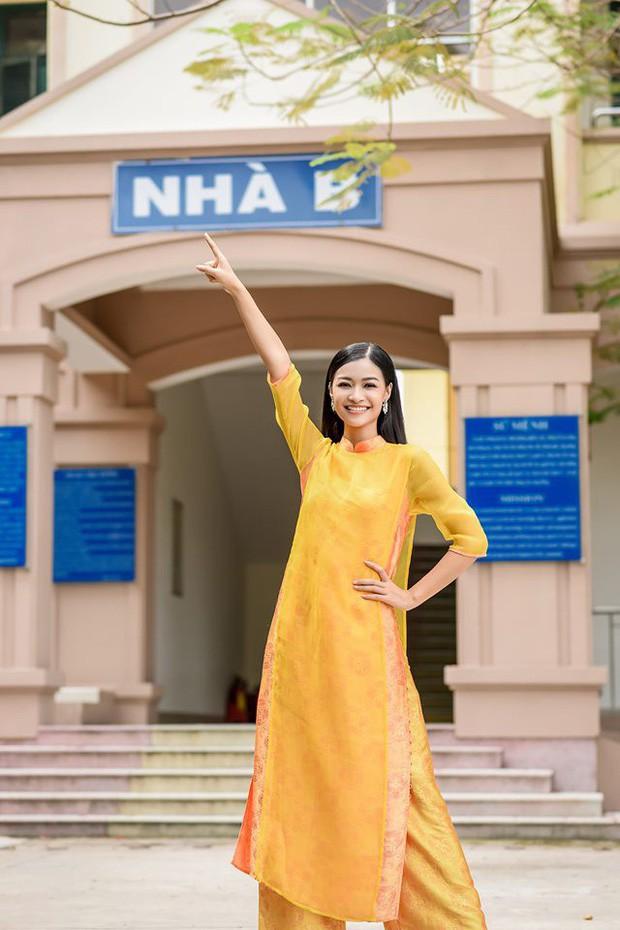 Dàn Hoa hậu Thế giới Việt Nam gây bão khi về lại trường khai giảng: Thùy Linh và Kiều Loan quá xinh, Tường San bất ngờ nhảy cover - Ảnh 7.