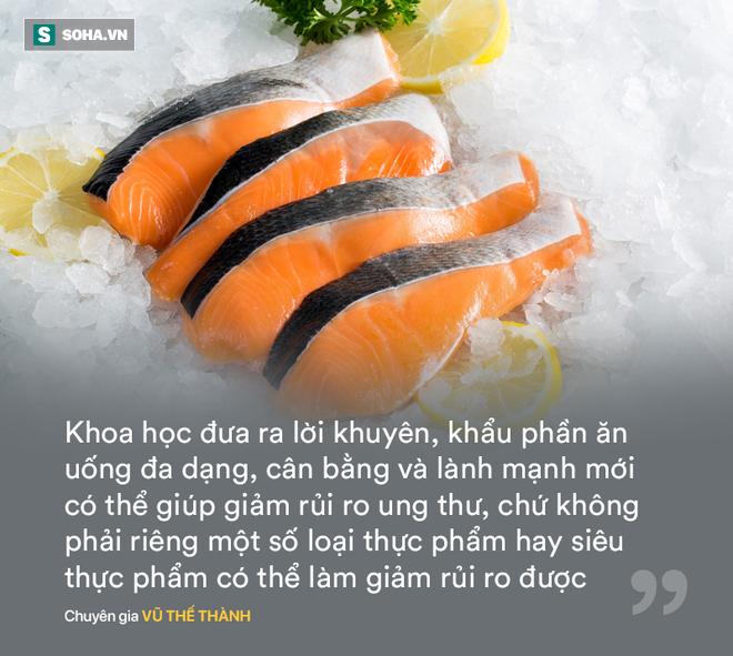 Chuyên gia Vũ Thế Thành: Cải xoăn giàu canxi hơn sữa là... bốc phét, nhiều loại cá có omega-3 chứ riêng gì cá hồi - Ảnh 3.