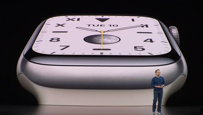 Apple công bố Apple Watch Series 5: Màn hình always-on, thêm la bàn, lựa chọn vỏ ngoài bằng titan, giá 399 USD - Ảnh 2.