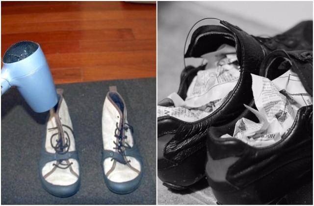 Đi mưa về, làm ngay việc này để giữ giày luôn mới và không bị hôi - Ảnh 3.