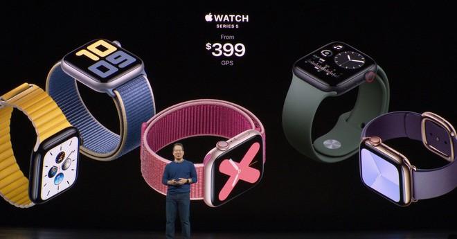 Apple công bố Apple Watch Series 5: Màn hình always-on, thêm la bàn, lựa chọn vỏ ngoài bằng titan, giá 399 USD - Ảnh 5.