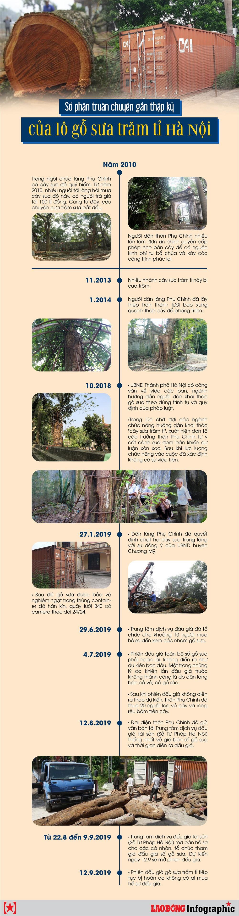 Infographic: Số phận truân chuyên gần thập kỷ của lô gỗ sưa trăm tỉ Hà Nội - Ảnh 1.