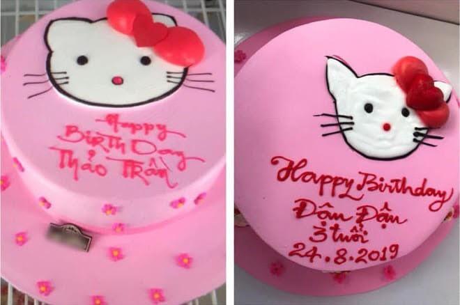 Đặt hình Hello Kitty, cô gái lại nhận về chiếc bánh mặt mèo bị tẩy trang, xấu tới mức không muốn thổi nến - Ảnh 7.