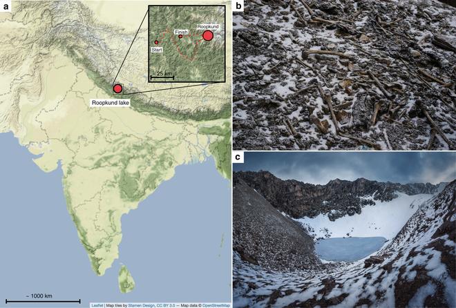Bí ẩn Hồ Hài Cốt trên dãy Himalayas, nơi nghĩa địa tập thể của hàng ngàn người xấu sổ - Ảnh 2.