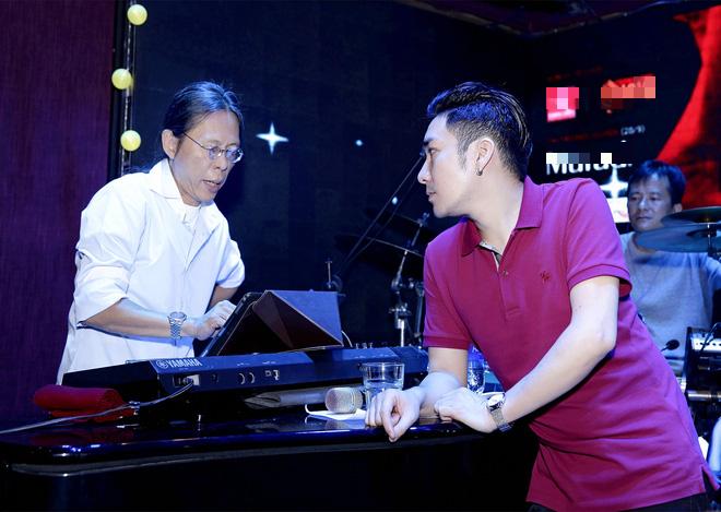 Đan Trường, Lệ Quyên không ngại trời mưa đến tập hát cùng Quang Hà - Ảnh 1.