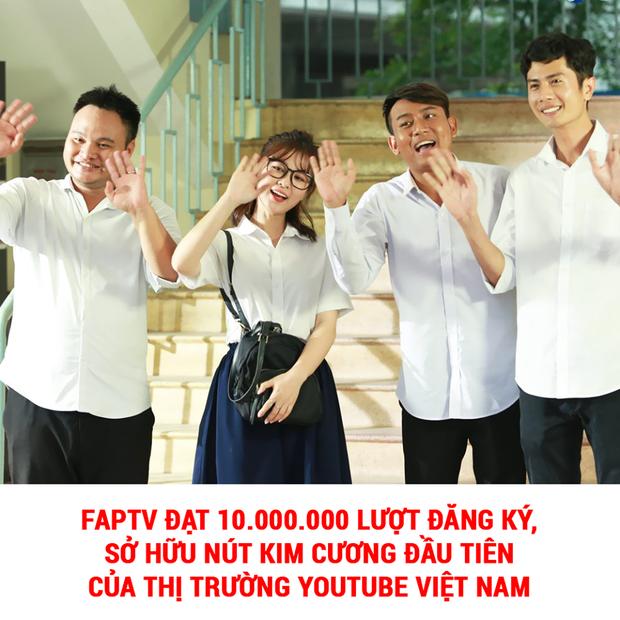 HOT: FAP TV - nhóm hài đầu tiên ở Việt Nam xác lập kỷ lục nút kim cương với 10 triệu lượt theo dõi trên Youtube! - Ảnh 1.