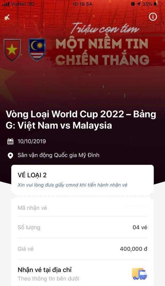 Vé trận Việt Nam - Malaysia được thông báo hết sau... 3 phút - Ảnh 2.