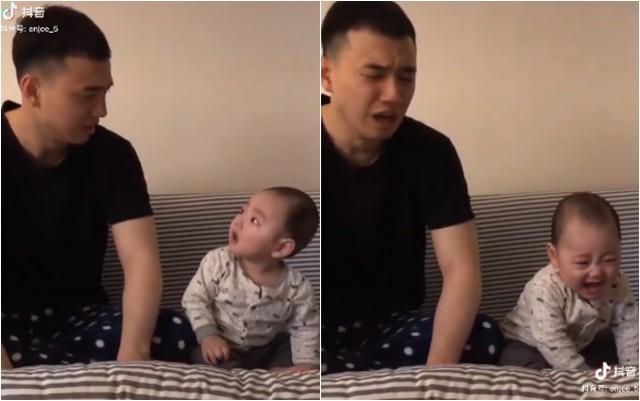 Con trai bất ngờ khóc ré lên, ông bố trẻ dỗ theo cách chẳng giống ai khiến dân mạng cười nghiêng ngả - Ảnh 3.