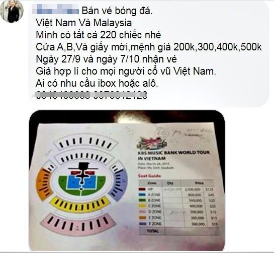 Vé xem Việt Nam vs Malaysia bị hét giá... cắt cổ - Ảnh 2.