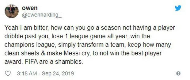 Người hâm mộ bức xúc, tin Messi không xứng đáng với danh hiệu Cầu thủ xuất sắc nhất năm 2019 - Ảnh 5.