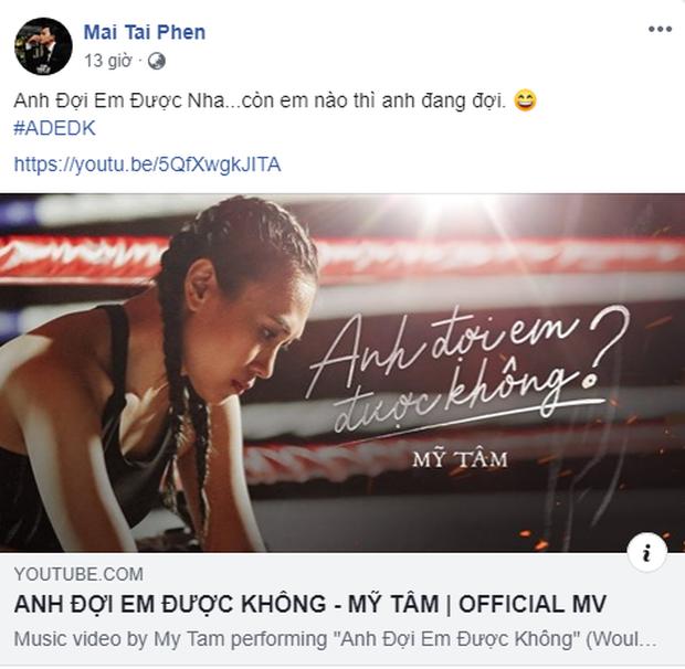Mỹ Tâm vừa ra mắt MV mới, Mai Tài Phến đã lập tức gây sốt khi công khai ủng hộ: Anh đợi em được nha - Ảnh 1.