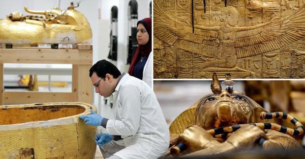 Kho báu giấu kín của Pharaoh Tutankhamun lần đầu tiên được đưa ra khỏi lăng mộ sau gần 100 năm - Ảnh 2.