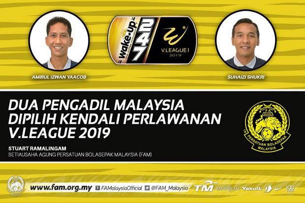 Sau khi cấm vĩnh viễn trọng tài nội vì bắt ẩu, BTC V.League thuê 2 vua áo đen của Malaysia làm nhiệm vụ - Ảnh 1.
