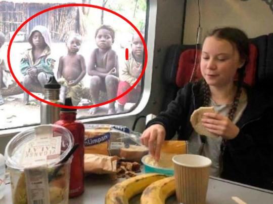 Con trai Tổng thống Brazil đăng ảnh Greta Thunberg ăn trưa no đủ trước mặt những trẻ em nghèo và sự thật khiến ai cũng giận dữ - Ảnh 1.