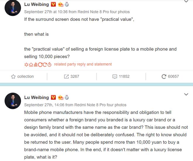 Sếp Huawei chê Mi Mix Alpha không thực tế, sếp Xiaomi liền dè bỉu Mate 30 RS - Ảnh 3.